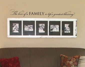 The love of a family - wall words vinyl quote design