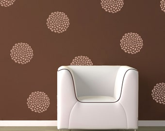 Flowers - 12 Graphics at 10 inches - Vinyl Wall Decal Stickers