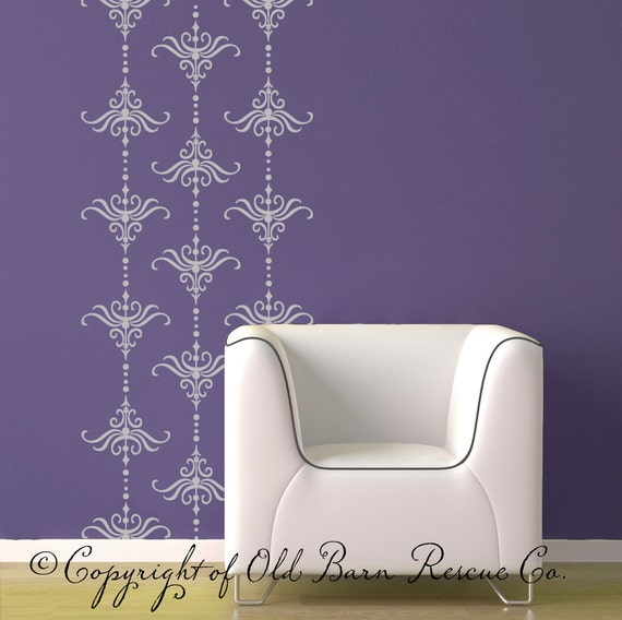 Damask Vinyl Wall Decal Set - Pattern Decals