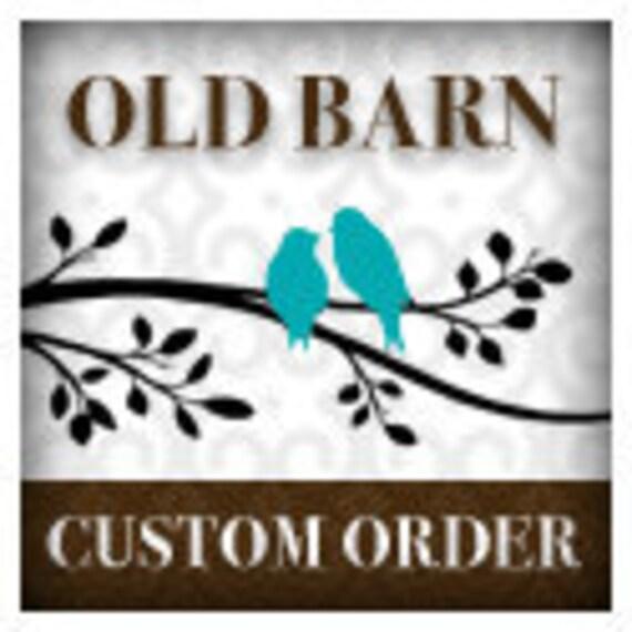 Custom order for Megan Hale - vinyl wall decal monogram