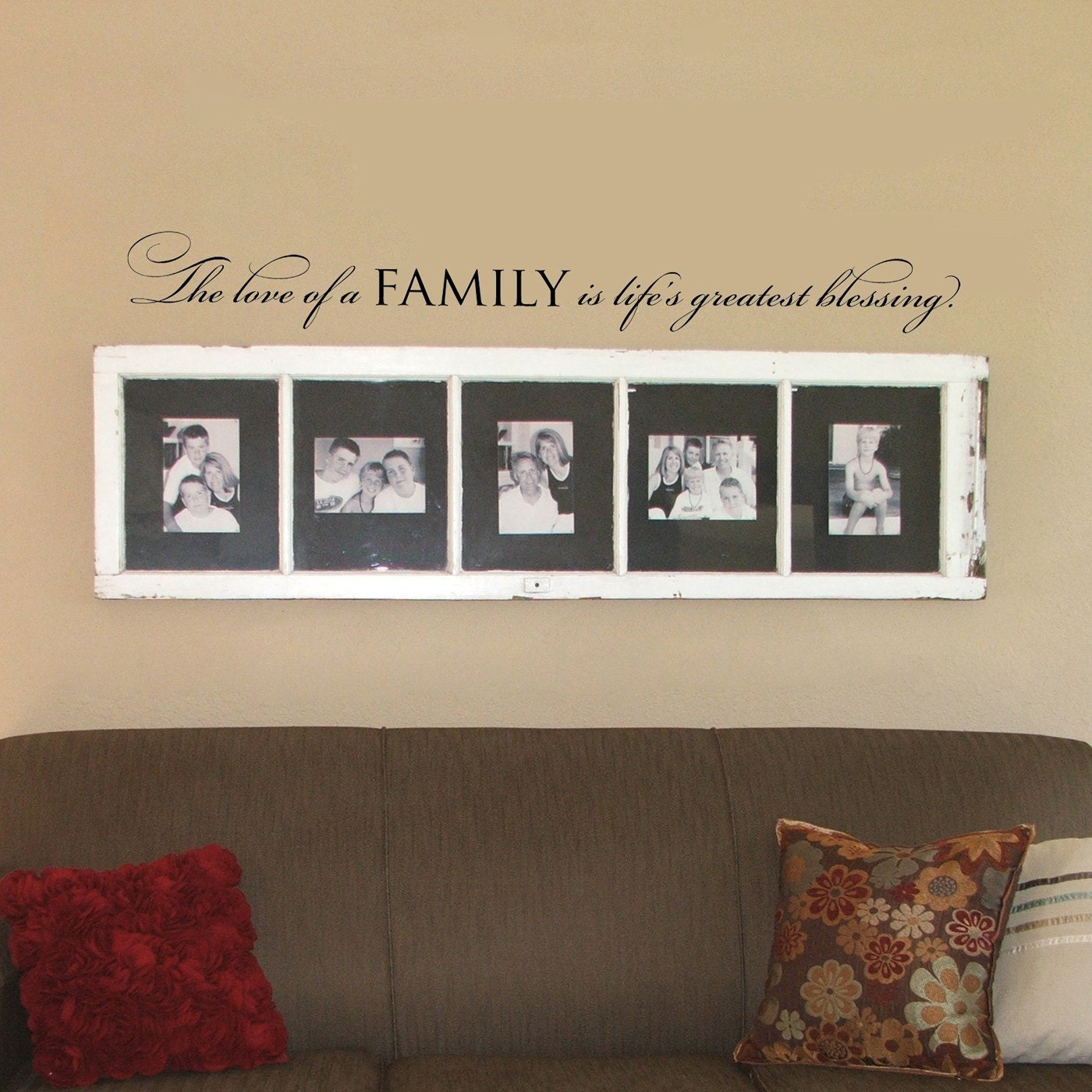 Words To Decorate Your Wall With The Love Of A Family Wall Words Vinyl Quote Design