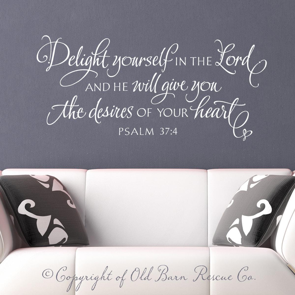christian wall decal wall sticker delight by oldbarnrescuecompany. Black Bedroom Furniture Sets. Home Design Ideas
