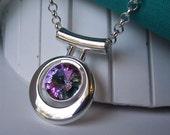 Light Vitrial Rivoli Necklace in Silver