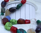 Mixed Stone Nugget Necklace