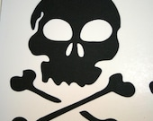 Skull Die cuts Handmade Scrapbooking die cut Embellishments for Scrapbooks, Cards or Framing
