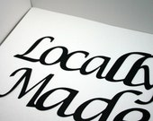 Locally Made Die cut Handmade Embellishments for Scrapbooks, Cardmaking or Framing