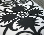 Flourish Die Cut, Intricate Scrapbook Border, Handmade Paper Shape