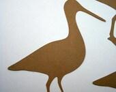 Diecuts Walking Bird Silhouette Handmade Die cut Embellishments for Scrapbooks, Cards or Home Decor