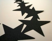 Stars Corner Die Cuts Handmade Die cut Scrapbook or Card Embellishments Black