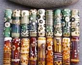 MruMru Handmade Lampwork Glass Bead. Tube focal. Mix and Match Tubes.  Sra.