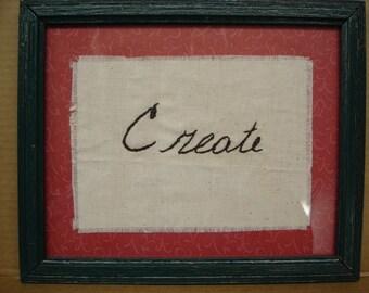 Inspirational Sayings--Create