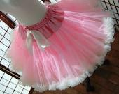 Pettiskirt Pink and Ivory Size Medium Custom