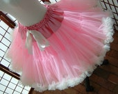 Pettiskirt Pink and Ivory Size X-Small Custom