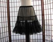 Chiffon Pettislip Black Size X-Small Custom