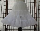 Petticoat Organdy White Size Large Custom