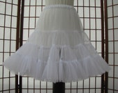 Petticoat Organdy White Size Medium Custom