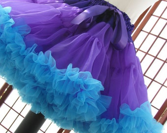 Pettiskirt Purple and Turquoise Size Small Custom