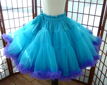 Pettiskirt Turquoise and Purple Size Medium Custom