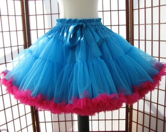 Pettiskirt Turquoise and Fuchsia Size Medium Custom