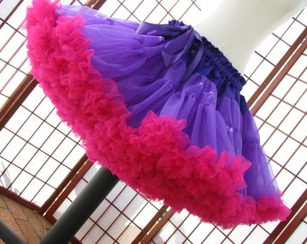 Pettiskirt Purple and Fuchsia Size Medium Custom