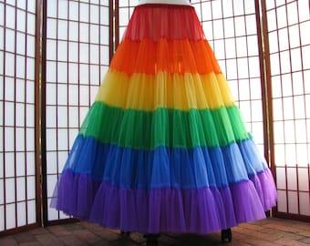 Petticoat Rainbow Floor Length Size Small Custom