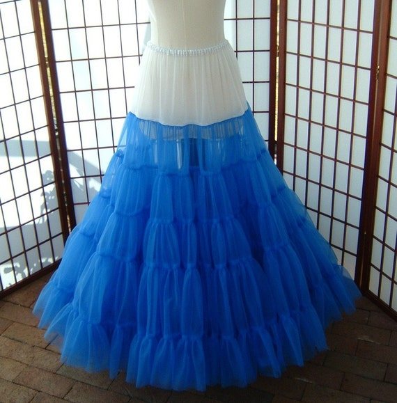 Petticoat Floor Length Single Layer Your Color Choice Size Large Custom