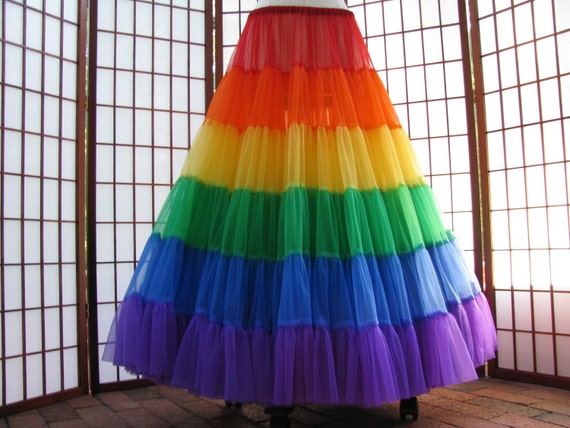 Petticoat Rainbow Floor Length Size X-Small Custom