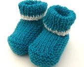 Azules - newborn baby booties 3-6 months