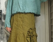 Cropped Mini Ruffle Shirt