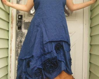 Swirly Slant Dress