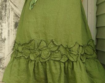 Green Petal Skirt custom order for ryen2luna