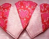 Set of 2 Heart Hotpads