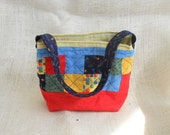 Colorful Patchwork Fabric Bag/Basket