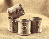 Stoneware clay shot glasses/toothpick holders (set of 4)