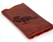 Quoth the Raven, Nevermore -  Refillable Daily Planner in Red Leather