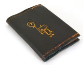 iRobot in Black- Refillable Pocket Sized Leather Notebook