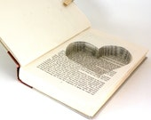 Hollow Book Safe with Heart - Seasons of the Heart - with Heart Cut - Ring Bearer Box