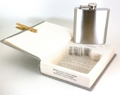 Hollow Book Safe with Flask - Unseen Companion