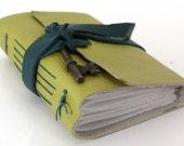 Skeleton Key Leather Journal in Granny Smith Green (sm)