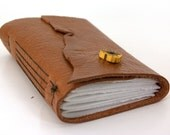 Rustic Toffee - Leather Journal or Sketchbook - (med)-