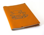 Large Leather Notebook - Monster - 5x7-