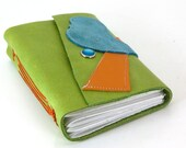 Leather Journal or Sketchbook  - Put a Bird on it