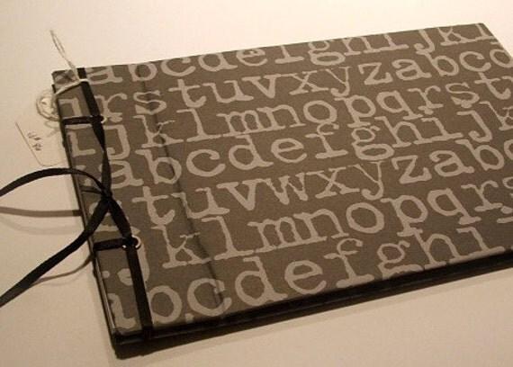 Type in Grey - Small Photo Album/Scrapbook - On Sale
