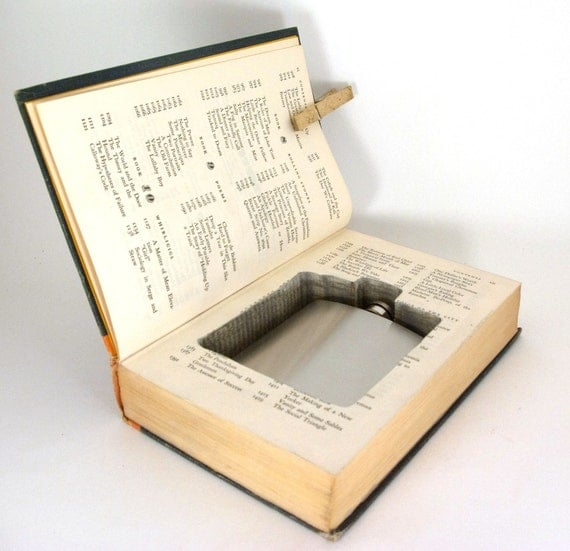 Hollow Book Safe - The Complete Works of O'Henry with Flask Cut-Out (flask included)