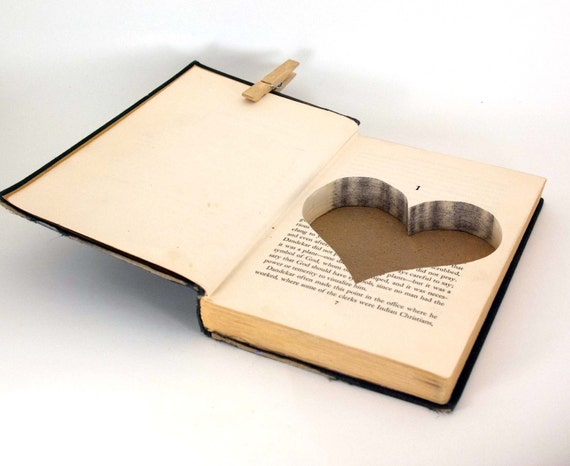 Hollow Book Safe - A Silence of Desire with Heart Cut-Out