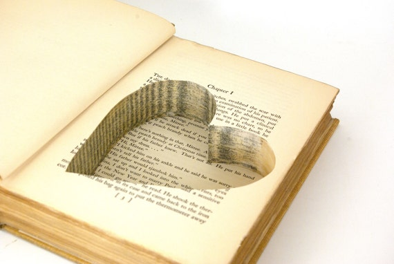 Wedding - Vintage Hollow Book Safe with Heart - Escape-