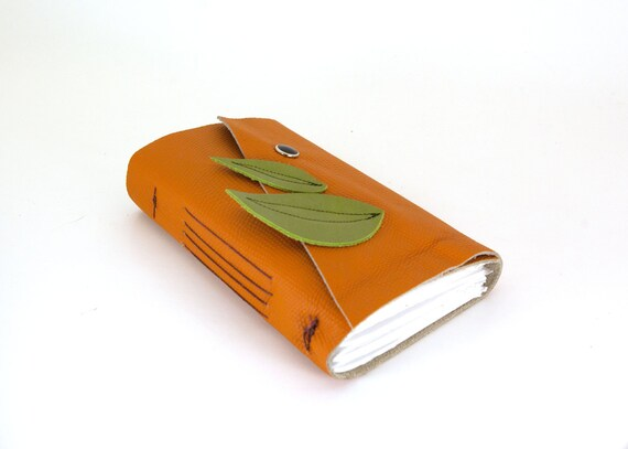 Leaves Leather Journal or Sketchbook (medium)-