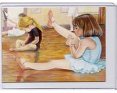 Concentration ACEO reproduction of original coloured pencil\/gouache painting