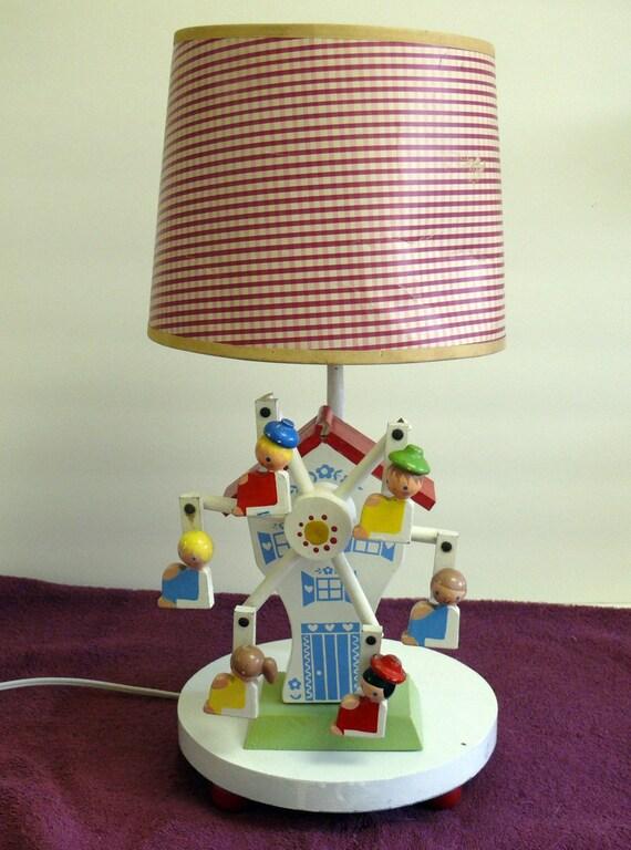 Vintage Merry Go Round Music Box Lamp