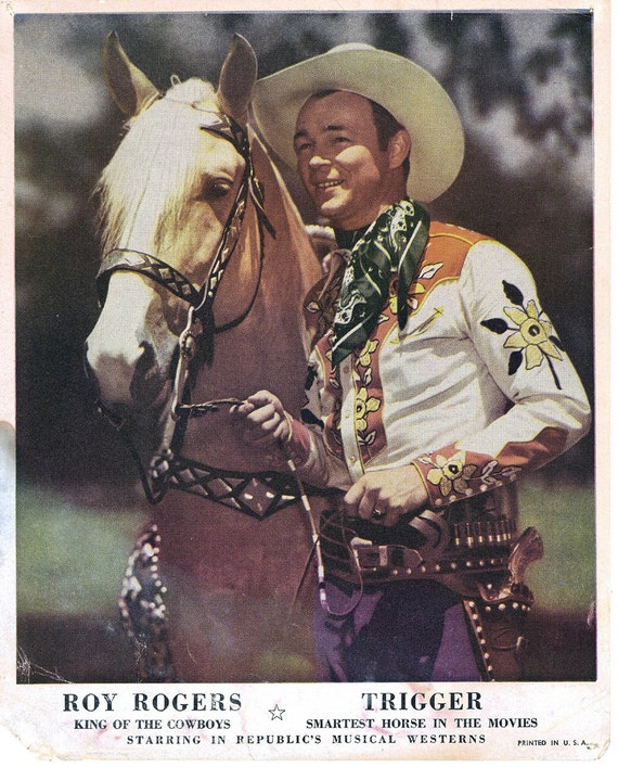 Roy Rogers And Trigger Print 8 X 10 Color Print